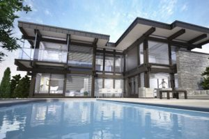 Perspective 3D d'extérieur : concours d'architecture