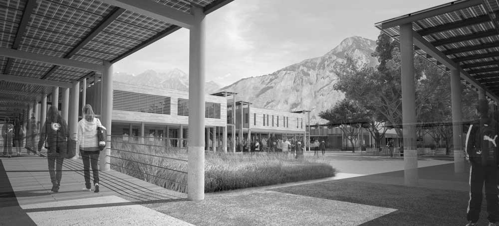 image 3D pour concours d'architecture