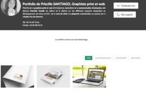 Portfolio Priscille SANTIAGO : site internet et infographie