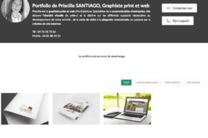 Portfolio Priscille SANTIAGO : infographiste webdesigner