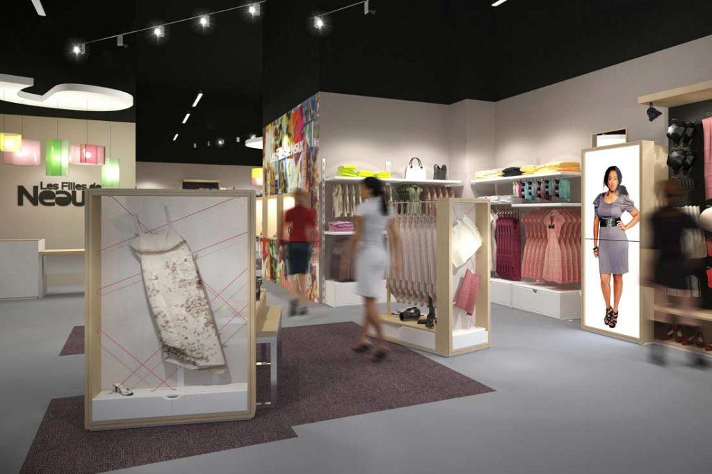 3D retail : appel d'offre boutique Les filles de Neaux
