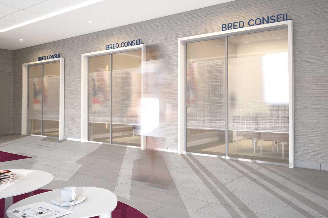 3D architecture commerciale banque Bred