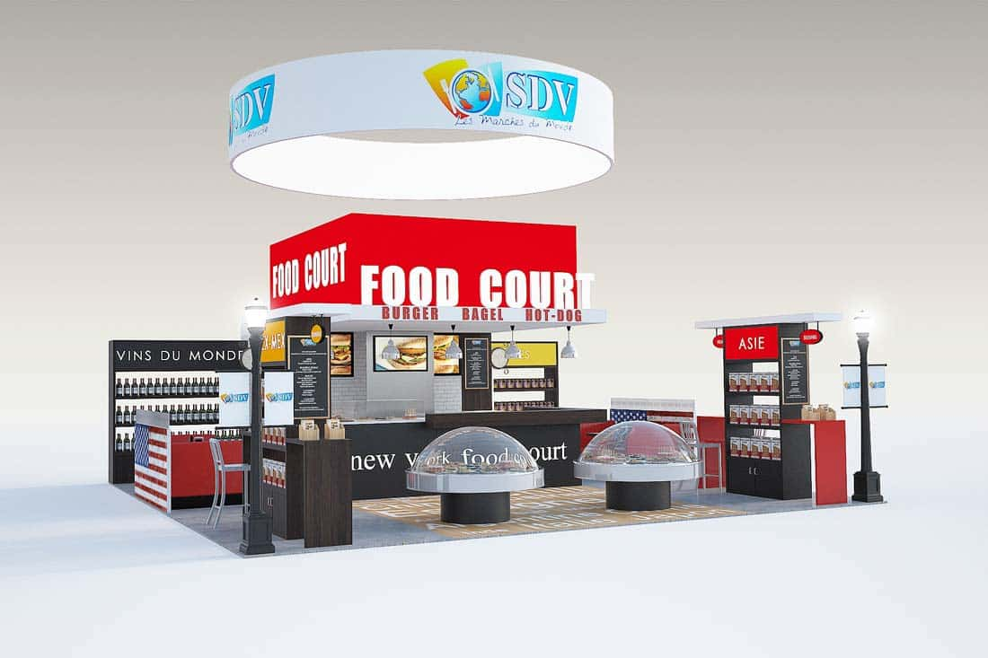 Image 3D stand Food Court
