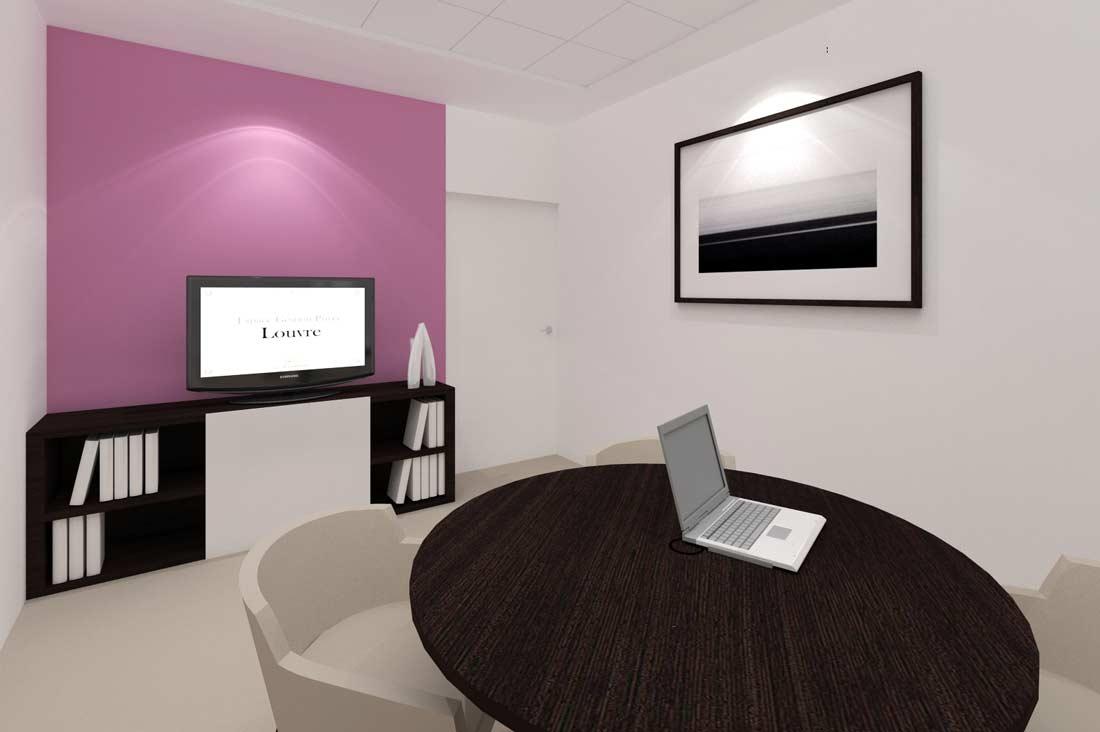 Création de maquette 3D des bureaux de la banque privée Caisse Epargne