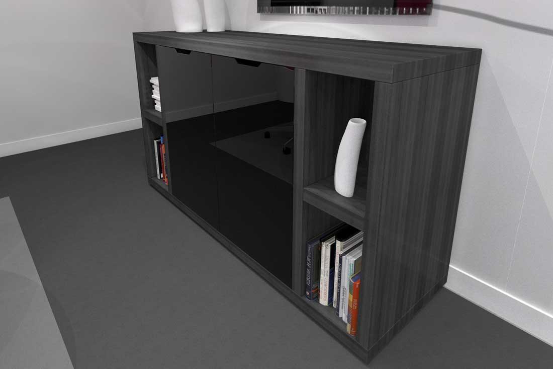 Image 3D d'un meuble de banque