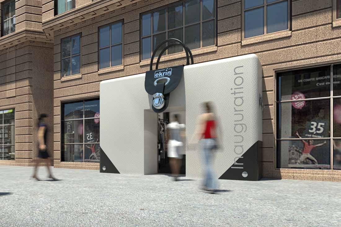 Illustration 3D de l'habillage de façade pour chantier