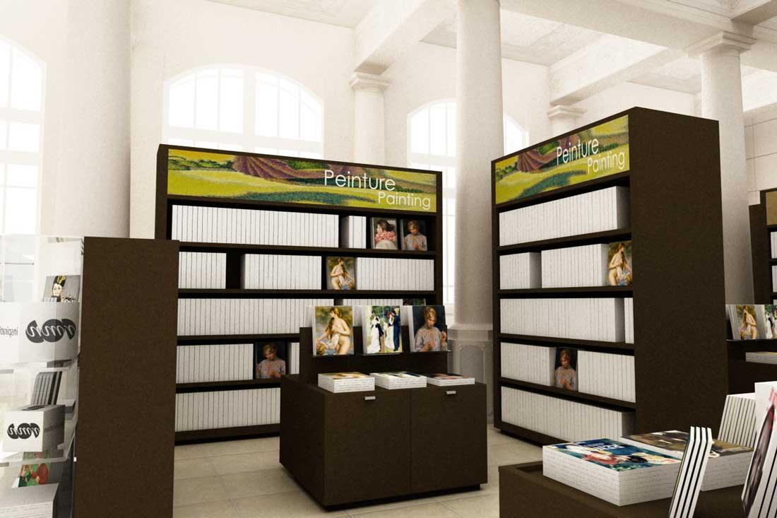 Image 3D de la boutique du musée d'Orsay