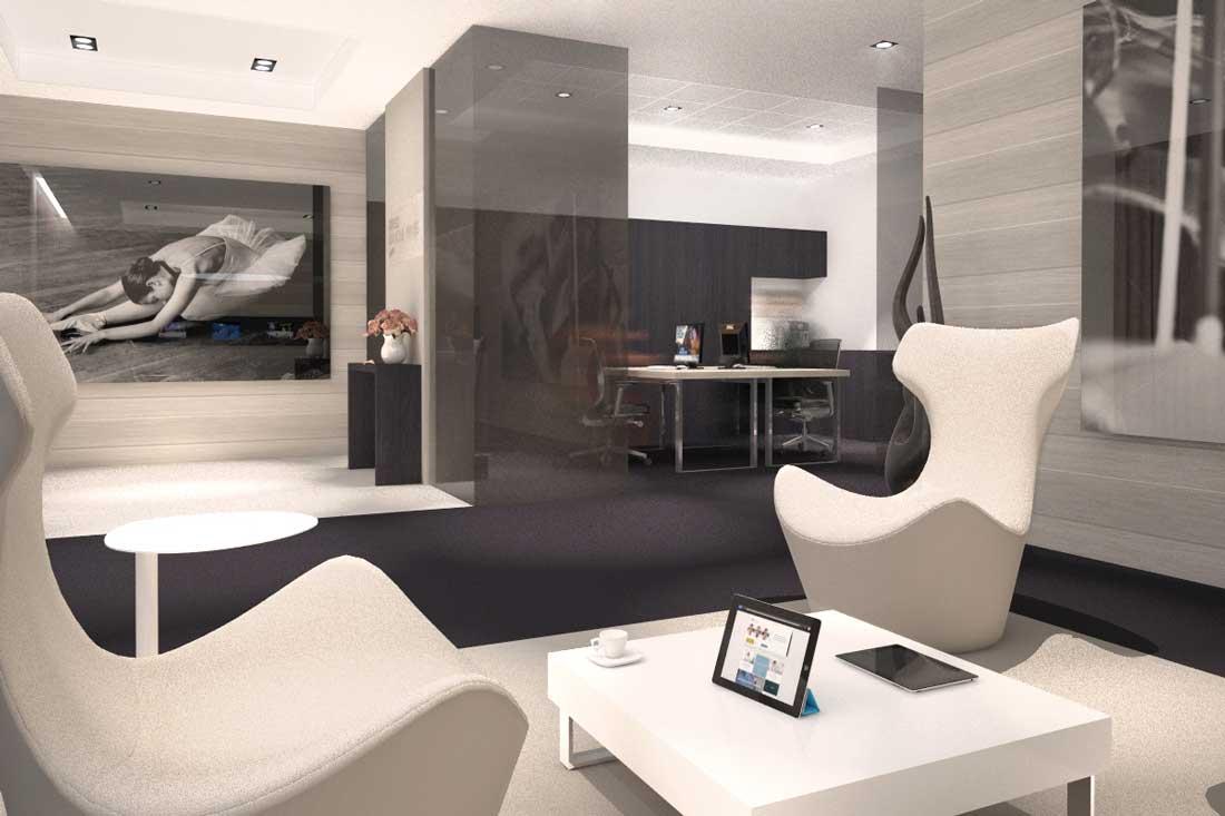 image de synthèse 3D du concept de la banque Bred Gestion Privée