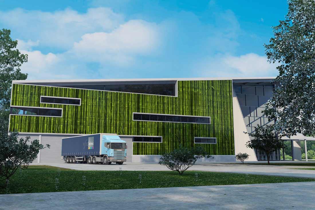 Image de synthèse 3D : habillage façade industrielle