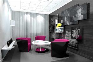 Images 3D architecture commerciale Banque Populaire Gestion Privée