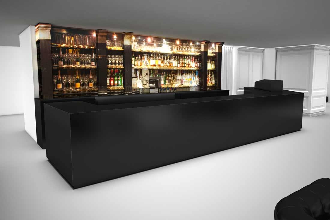 Maquette 3D du bar parisien Le Magnifique