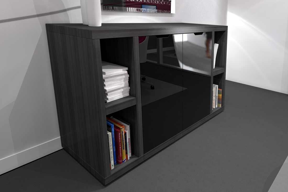 Rendu 3D d'un meuble de designer