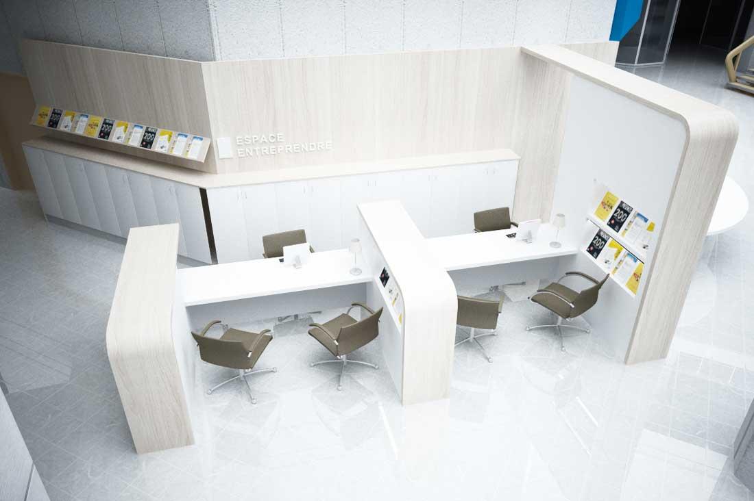 Modélisation 3D ameublement CCI de Grenoble
