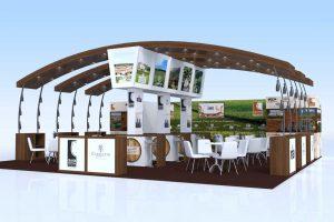 Modélisation 3D stand Grandi Vini