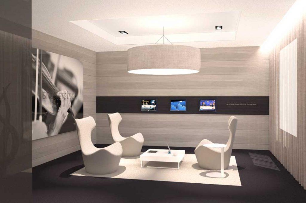 Modélisation et illustration 3D du concept de la banque Bred