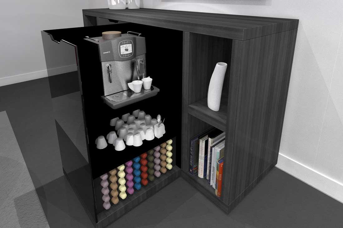 Modélisation 3D d'un meuble design