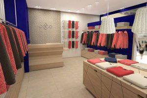 Modélisation et rendu 3D boutique kujten retail