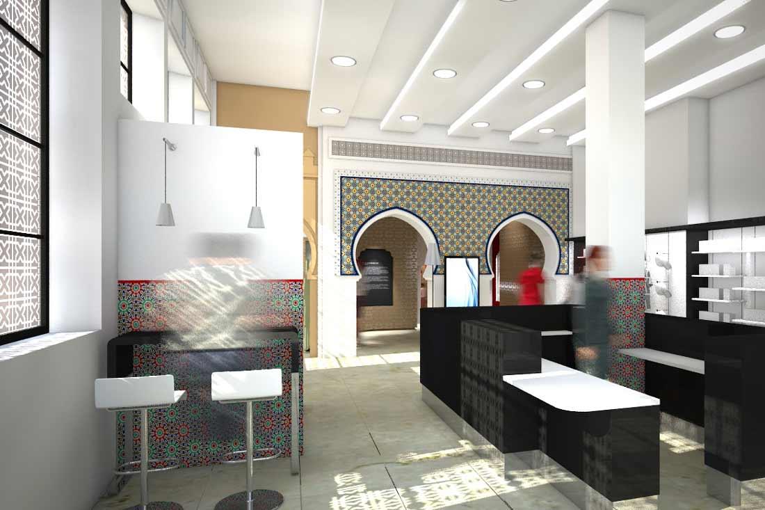 Perspective 3D du musée de la poste au Maroc
