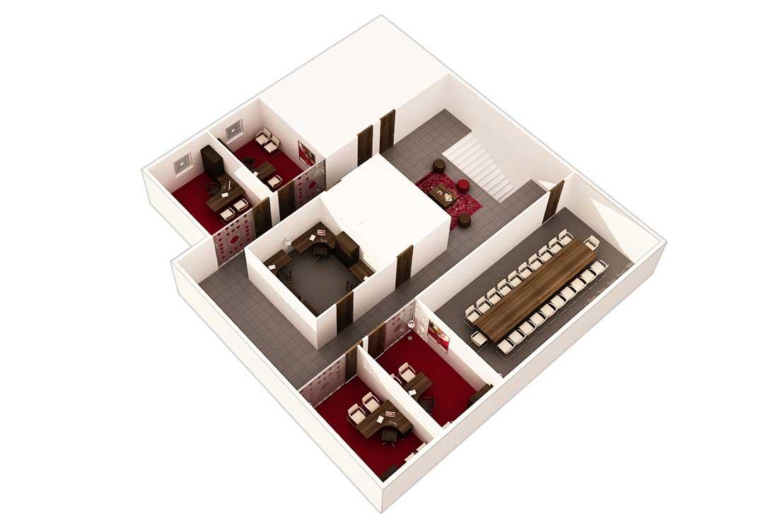 Plan 3D architecture commerciale la de banque d'Algérie