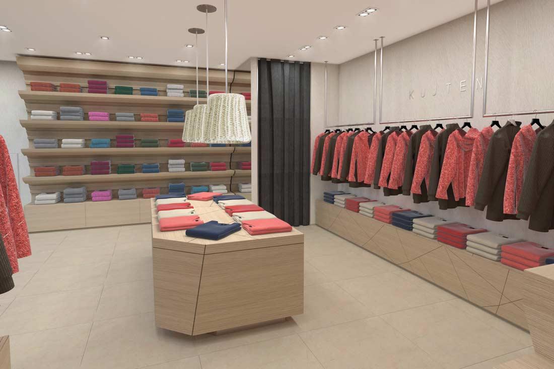 Rendu 3D de la boutique Kujten