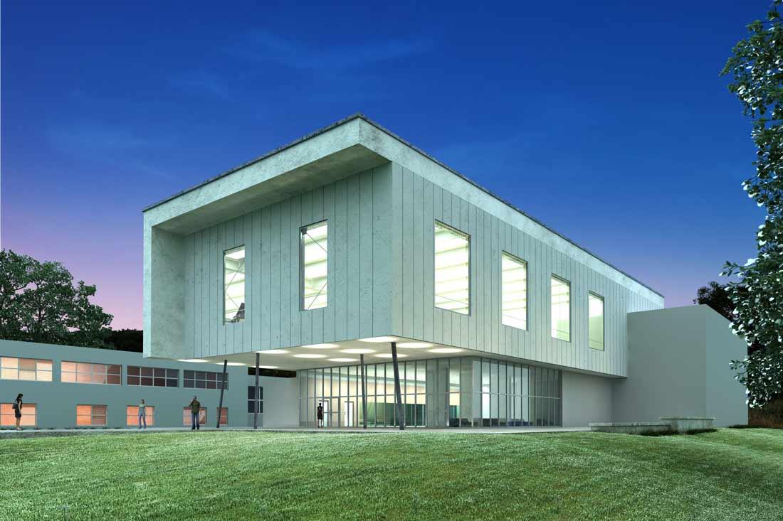 Rendu 3D de concept habillage de façade