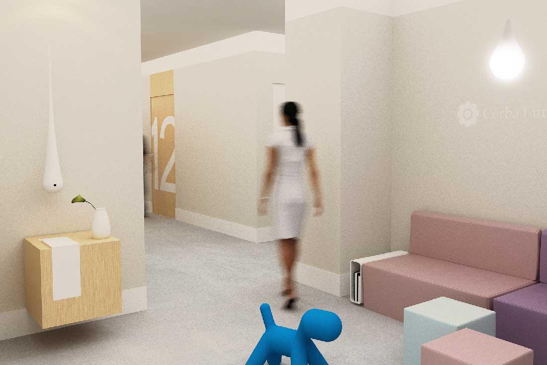 Rendu 3D du concept du laboratoire Cerba