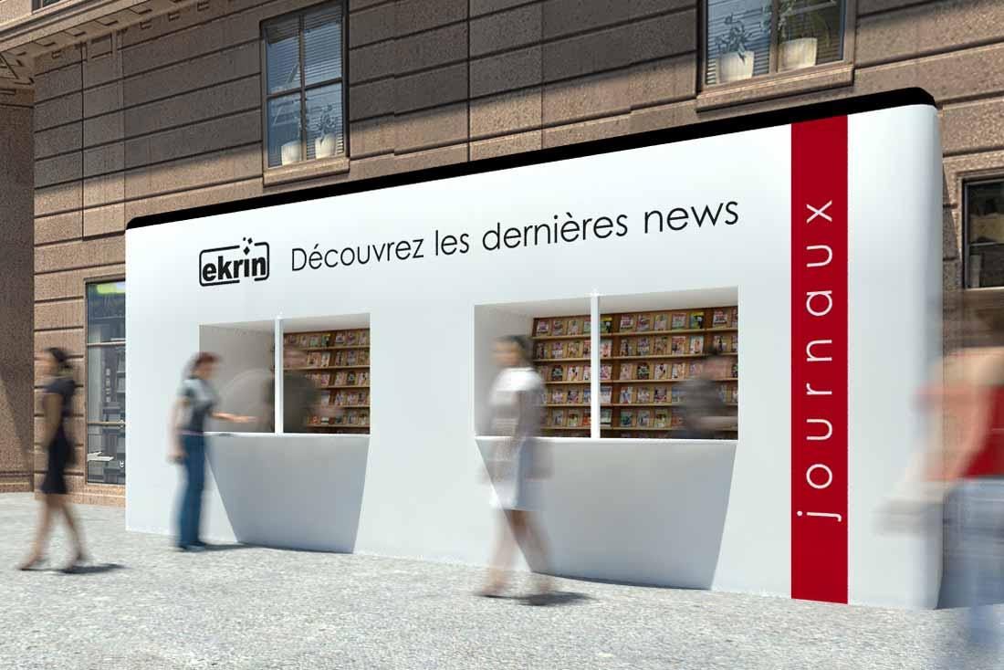 Rendu 3D façade boutique Ekrin