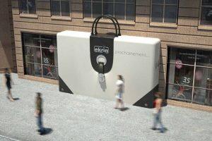 Rendu 3D d'un habillage de façade pour chantier