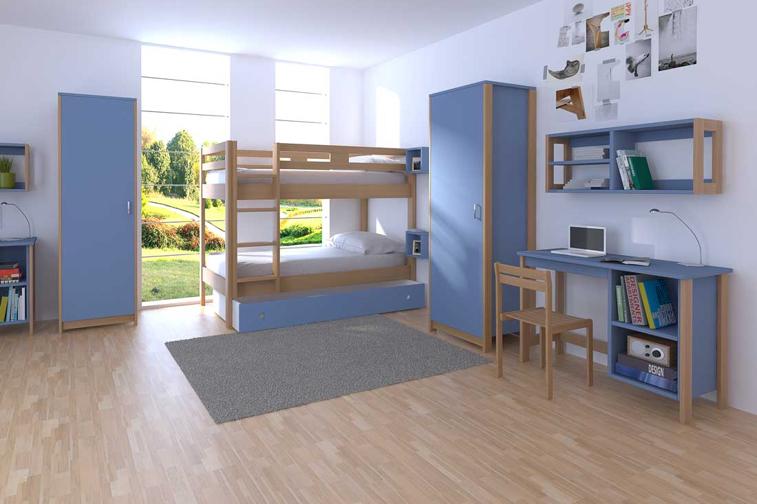 simulation 3D agencement chambre collective
