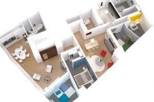 Vue 3D Axonométrique d'un appartement