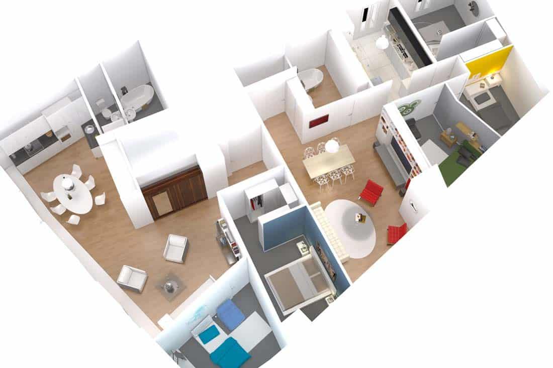 Axonométrie de l'appartement