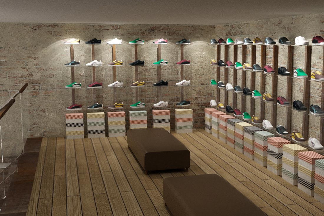 Création image 3D du concept de boutique Nevada Retail