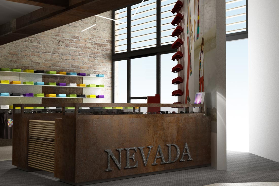 Conception image 3D retail concept Nevada