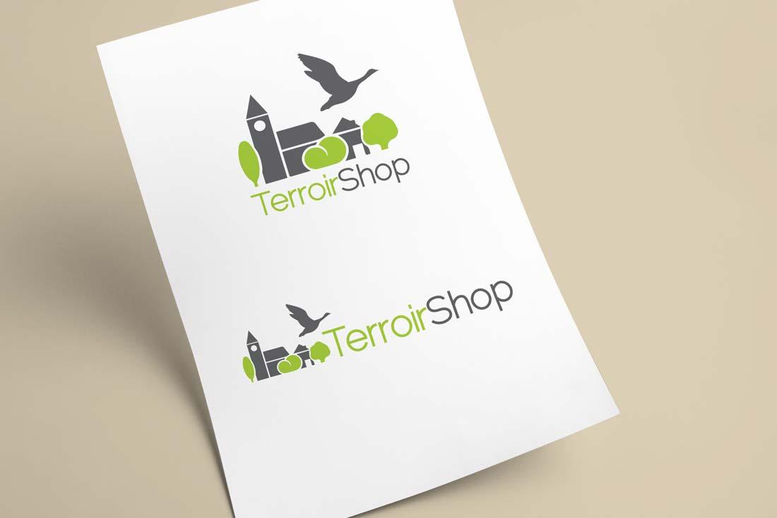 Création du 2 variantes de logo Terroirshop