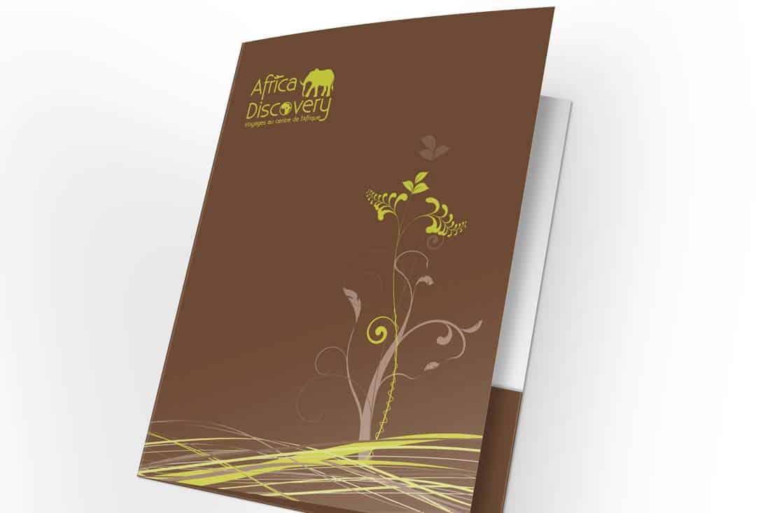 Création pochette pour l'agence de voyage Africa Discovery