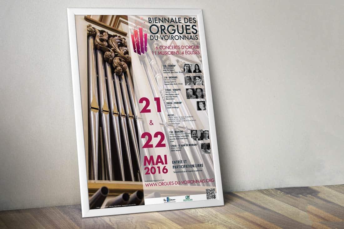 Création Affiche de la biennale des orgues du voironnais