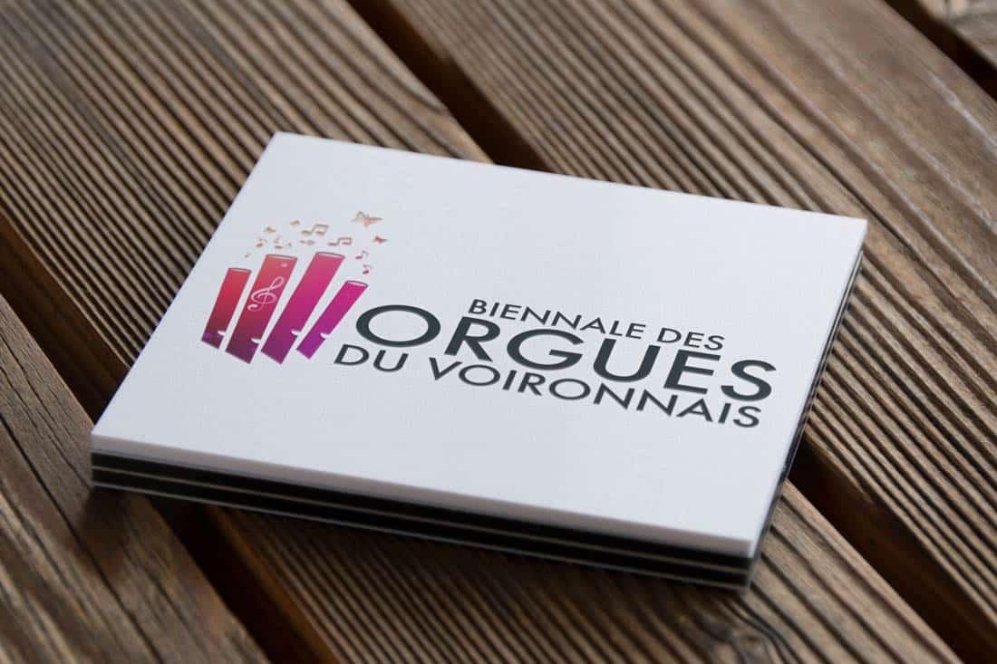Création du logo de la biennale des orgues du voironnais