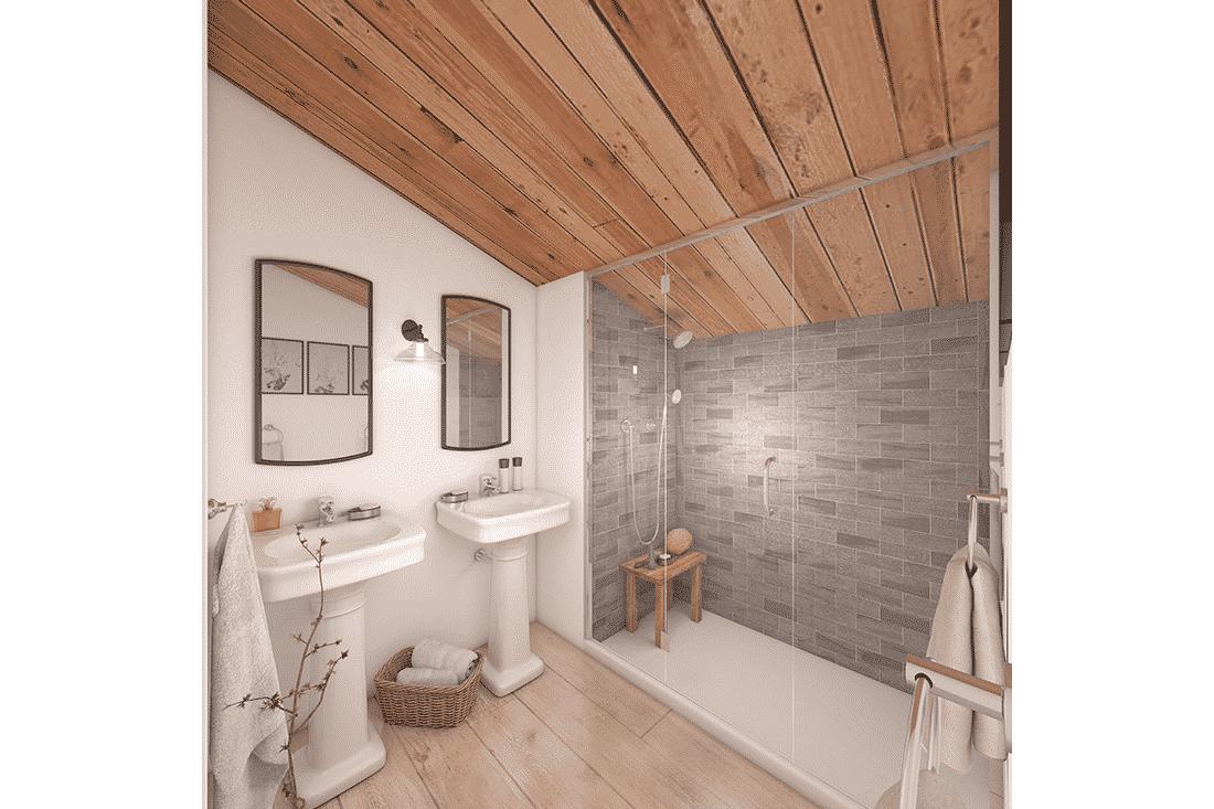 Image 3D pour promotion immobilière : salle de bain