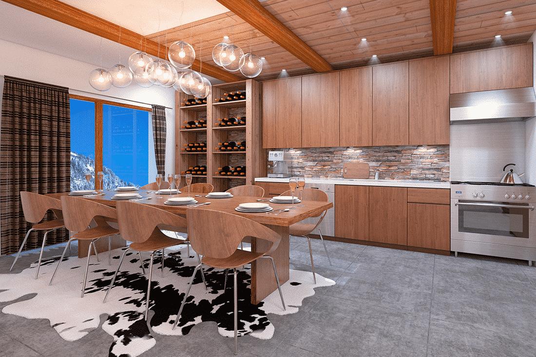 photos 3D de vente : appartement en montagne