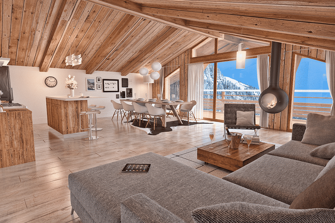 image 3D de vente d'un appartement pour de la promotion immobilière
