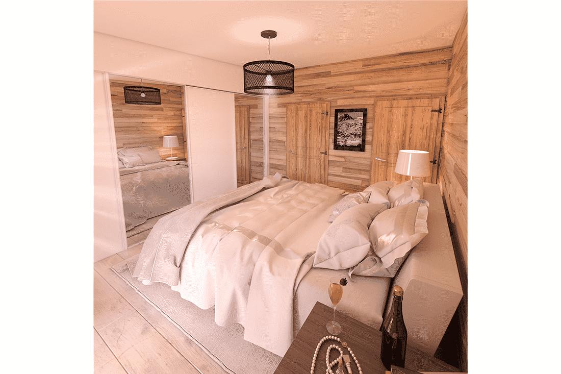 Image 3D de vente appartement sur plan