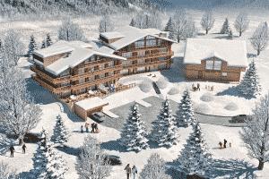 """Plan 3D pour le projet """"Les Lodges de Celelstin"""""""