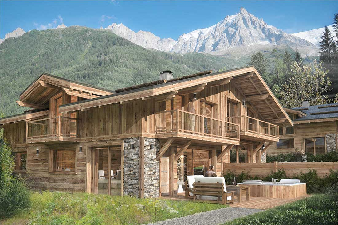 Rendu image 3D promotion immobilière chalet Paradis Chamonix