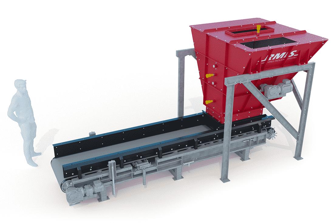 image 3D prototype industriel : R.M.I.S convoyeur doseur sans capot
